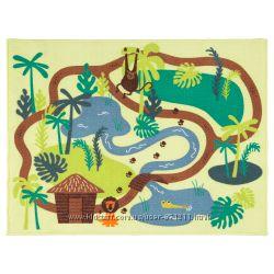 Ковер, короткий ворс, джунгли, 133x100 см, DJUNGELSKOG IkeaИкеа 603. 937. 64