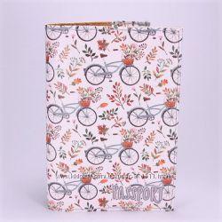 Обложка на паспорт Велосипеды, экокожа