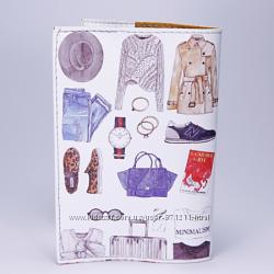 Обложка на паспорт, белая, Одежда, экокожа