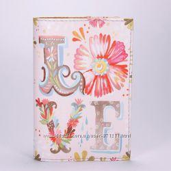 Обложка на паспорт, розовая, LOVE, экокожа