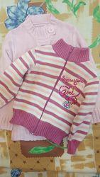 Зимний свитер реглан на девочку 2-4 и 5-7 лет