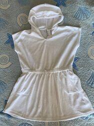Пляжный детский халат полотенце