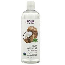 Жидкое кокосовое масло, ректифицированное, Coconut Oil, Now Foods,473 ml