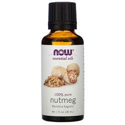 Эфирное масло мускатного ореха Now Foods Essential Oils Nutmeg, 30 ml