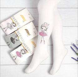 Детские колготы для девочки с балериной. Турция