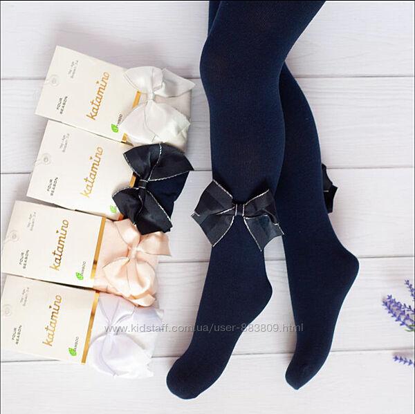Турецкие колготки для девочек с бантиком на ножке.