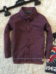 Стильная рубашка в горошек от Next, 4-5л