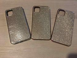 Силиконовый чехол iphone 11pro max с камнями Сваровски