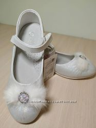 Туфли нарядные на девочку Солнце арт. СВ96-3С р. 32-36 туфлі святкові білі