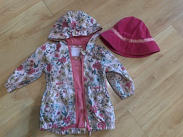 Ветровка красивая курточка  длина 40 см 1-1,5 года
