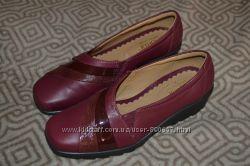 кожа новые женские туфли Hotter 23. 5 см 36-37 размер Англия