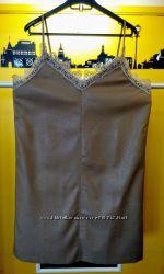 платье из PU-кожи