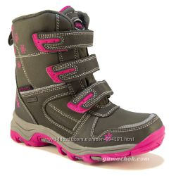 Зимние Термо Ботинки c мембраной 32-35 размер AmericanClub детские сапожки