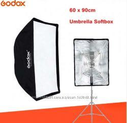 Зонт-софтбокс Godox 60 x 90 см, быстрораскладной отражатель для вспышки