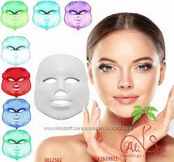 Омолаживающая Лечебная  LED-маска для лица 7 цветов