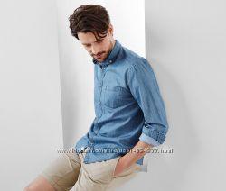 Рубашка из тонкого джинса от Tchibo р. 41 - 42, 45 - 46