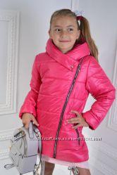 Куртка демисезонная для девочки на рост 122, 128, 134, 140, разные цвета