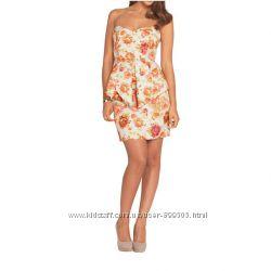 Пролет платье Н&М, из фактурной ткани