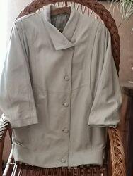 Куртка кожа белая