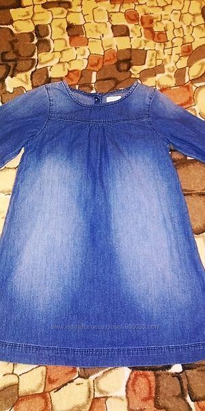 Джинсовое платье Next, Некст, 5-6 лет.