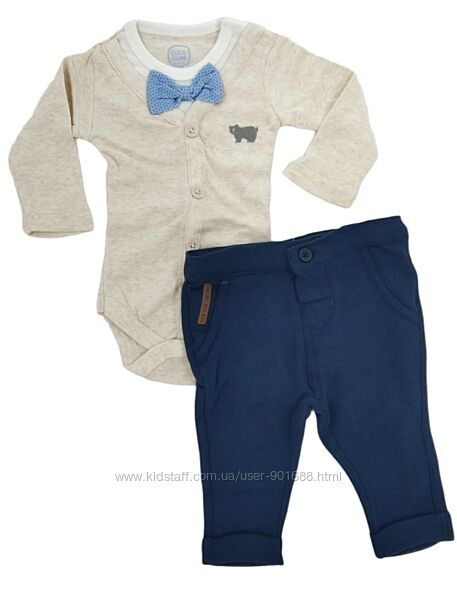 Нарядный комплект боди штаны бабочка Cool Club. Нарядні боді штани хлопчик