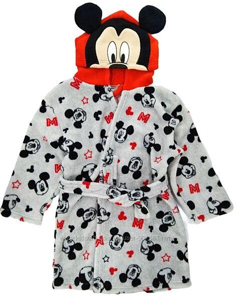Мягкий халат Микки Маус с капюшоном Халат Міккі Маус з каптуром 104, 110 см