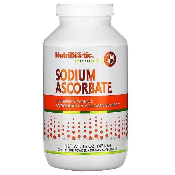 Витамин С, NutriBiotic, Immunity, аскорбат , порошок, 227 и 454 г, iHerb