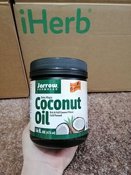Jarrow Formulas, органическое кокосовое масло холодного отжима, iHerb