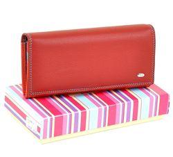 Красный женский кошелек 100 кожа. Кожаное женское портмоне bond. Клатч