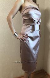Вечернее платье на выпускной, корпоратив, для дружки, с открытыми плечами