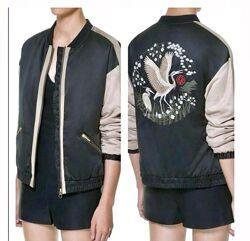 Весенняя курточка, куртка, пиджак, бомбер на молнии zara