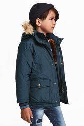 Теплые куртки H&M 104, 128, 140р - разные