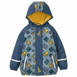 Куртка грязепруф на флисе, дождевик Lupilu 86-92, 98-104, 110-116, 122-128р