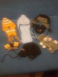 Комплекты, шапка с шарфом, перчатками