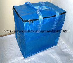 Хозяйственные сумки баулы вертикальные cиние разные размеры