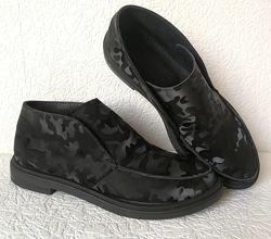 Loro Piana Женские лоферы полу ботинки натуральная черная замша комуфляж