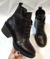 Dolce Gabbana Женские кожаные зимние ботинки, полуботинки на шнуровке