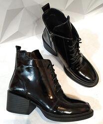 Dolce Gabbana Женские кожаные ботинки, полуботинки на шнуровке, со змейкой