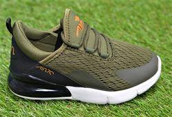 Детские кроссовки аналог Nike Air Max 270 haki найк аир макс хаки р31-36