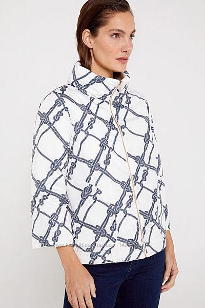 CORTEFIEL  Куртка двусторонняя цвет белый с принтом