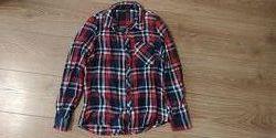 Теплая рубашка подростку на 14-16 лет или размер 34 европейский
