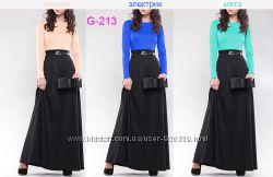 Платье двухцветное  G-213 размеры 42-48, 50-54