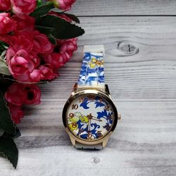 Часы женские Geanel цветной силиконовый ремешок