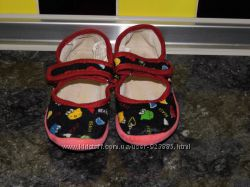 Детские тканевые балетки - Vitaliya 27 размер - микровельвет