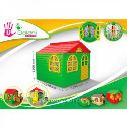 Большой игровой домик со шторками, фирма Doloni, качественный