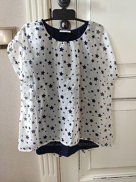 Блуза з зірочками на 134-140р.