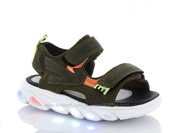 Босоножки сандалии с мигалками с LED подсветкой р. 28-32