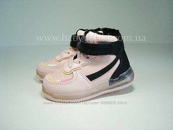 Хайтопы  Демисезонные ботинки для девочки LED р.21-26 New 2021