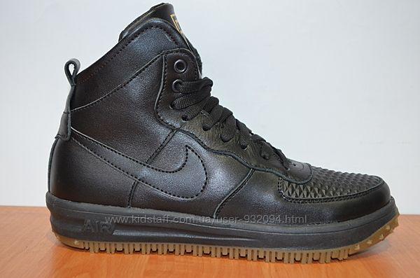 Зимние кроссовки Nike натуральная кожа nike lunar