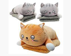 игрушка подушка плед Котик